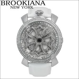 【クリアランス】 ブルッキアーナ/BROOKIANA メンズ レディース 時計 スピンウォッチ(BA2313-SVWH)ホワイト×シルバー|ryus-select