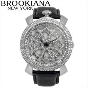 【クリアランス】 ブルッキアーナ/BROOKIANA メンズ レディース 時計 スピンウォッチ(BA2313-SVWHBK)ブラック×シルバー|ryus-select