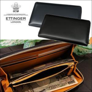 (5) ETTINGER エッティンガー ラウンドファスナー 長財布 小銭入れ付BH2051EJR (BLACK ブラック) (NAVY ネイビー) BRIDLELARGE ZIP AROUND PURSE (CPT)|ryus-select