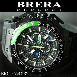 (レビューを書いて5年保証) 時計 (43) ブレラ オロロジ メンズ グリーン ラバー (BRGTC5403) 父の日|ryus-select