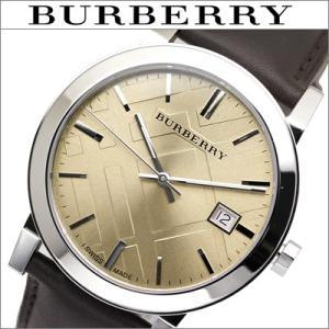 バーバリー/BURBERRY メンズ 時計 BU9011 シャンパンゴールド×ダークブラウンレザー The City  シティ|ryus-select