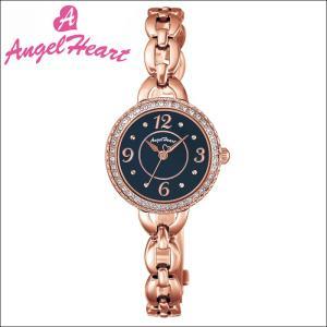 (ショップ袋付)エンジェルハート Angel Heartクリスタルハニー 時計 腕時計 レディースCH24PN ソーラー電池 ブラック ピンクゴールド|ryus-select
