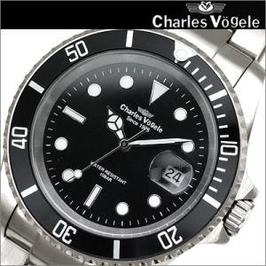 シャルルホーゲル Charles Vogele メンズ 時計 CV9069-3 ブラック×シルバー 父の日 ryus-select
