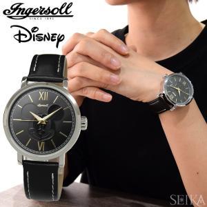 インガソール ディズニー Ingersoll Disney Classic CollectionDIN007SLBK(6) 39mm シルバー ブラックメンズ レディース ユニセックス 時計 腕時計ミッキー|ryus-select