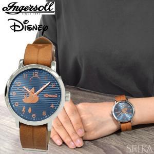 インガソール ディズニー Ingersoll Disney Classic CollectionDIN007SLBR(7) ブルー ローズゴールド ブラウンメンズ レディース 時計 腕時計ミッキー|ryus-select
