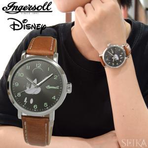 インガソール ディズニー Ingersoll Disney Classic CollectionDIN007SLTN(8) 39mm グレー ブラウンメンズ レディース ユニセックス 時計 腕時計ミッキー|ryus-select
