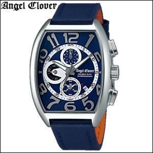 (レビューを書いて5年保証) 時計 エンジェルクローバー Angel Clover ダブルプレイ DP38SNV-NV ネイビー×シルバー ネイビーレザー 腕時計 メンズ  父の日|ryus-select