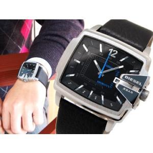 (5年保証) 時計 ディーゼル DIESEL腕時計 DZ1495 ブラック×ブラックレザー Square ( スクエア)|ryus-select