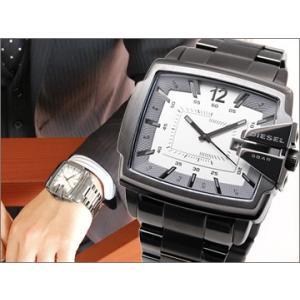 (5年保証) 時計 ディーゼル DIESELメンズ腕時計 DZ1498 Analog Square (アナログスクエア) シルバー×ガンメタ|ryus-select