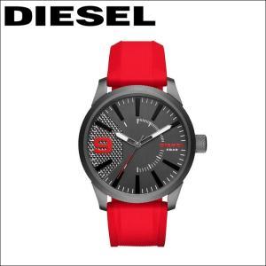 ディーゼル DIESEL ラスプ時計 腕時計 メンズラバー ガンメタ レッド DZ1806|ryus-select