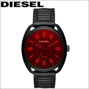 ディーゼル DIESEL DZ1837ファストバック 時計 腕時計 メンズレッド ブラック レザー|ryus-select