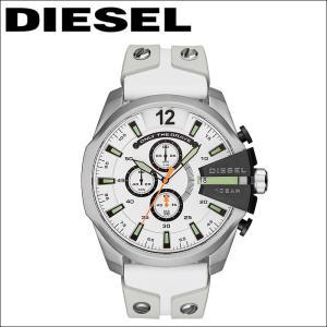 ディーゼル DIESEL時計 腕時計 メンズレザー ラバー ホワイト メガチーフ DZ4454|ryus-select