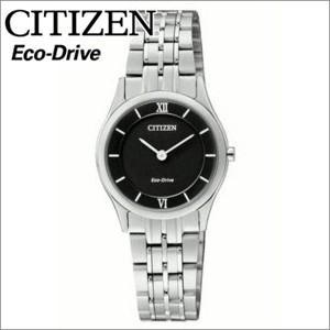 (レビューを書いて5年保証) (サマークリアランス) シチズン CITIZEN レディース 時計 (EG3220-58E) ブラック シルバー エコドライブ|ryus-select