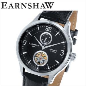 (レビューを書いて5年保証) (サマークリアランス)時計 (正規品) アーンショウ EARNSHAW 腕時計 メンズ ブラック レザー ES-8023-01|ryus-select