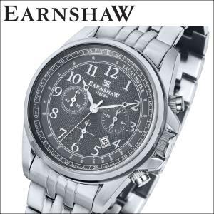 【当店ならお得クーポンあり】(正規品) アーンショウ EARNSHAW  時計 腕時計 メンズ ブラック シルバー ES-8028-33 (ty7)|ryus-select