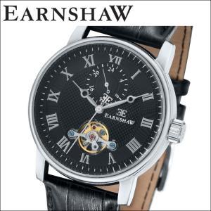 【当店ならお得クーポンあり】(正規品) アーンショウ EARNSHAW  時計 腕時計 メンズ ブラック ブラック レザー ES-8042-01 (ty7)|ryus-select