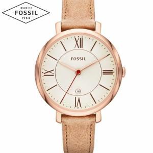 【当店ならお得クーポンあり】フォッシル FOSSIL ES3487時計 腕時計 レディースJacqueline ジャクリーン ベージュ レザー (k-15)|ryus-select
