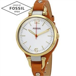 フォッシル FOSSIL ジョージア ES3565時計 腕時計  レディースシルバー ブラウン レザー|ryus-select