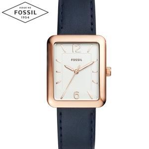 【商品入れ替えクリアランス】フォッシル FOSSIL ES4158 時計 腕時計 レディース レザー (k-15)スクエア 角型 青い腕時計|ryus-select