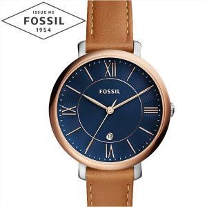 フォッシル FOSSIL ジャクリーン ES4274時計 腕時計  レディースネイビー ブラウン レザー|ryus-select