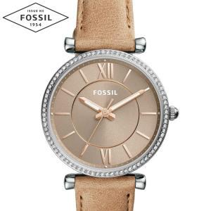 【当店ならお得クーポンあり】フォッシル FOSSIL ES4343時計 腕時計 レディースCarlie カラー ブラウン レザー (k-15)|ryus-select