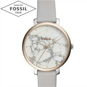 フォッシル FOSSIL ジャクリーン ES4377時計 腕時計  レディースホワイトマーブル グレー レザー|ryus-select