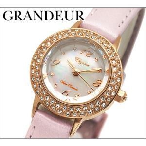 時計 グランドール レディース 腕時計ホワイトシェル×ピンクレザー (ESL051P2) (圧倒的なコストパフォーマンス)|ryus-select