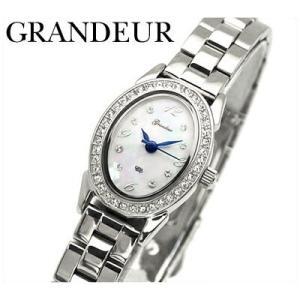 時計 グランドール GRANDEUR レディース 腕時計ホワイトシェル×シルバー (ESL052M1)|ryus-select