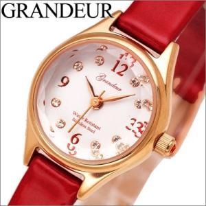 グランドール GRANDEUR レディース 時計 ESL054P2 レッド ピンクゴールド|ryus-select