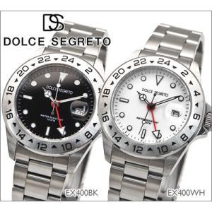 時計 ドルチェセグレート DOLCE SEGRETO メンズ 腕時計 EX400BK EX400WH|ryus-select