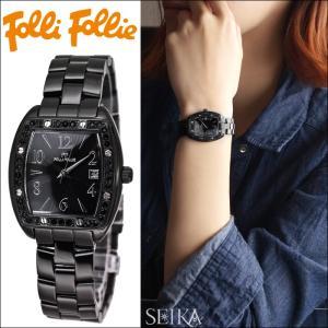(クリアランス) フォリフォリ 腕時計レディース 時計 【WF9E004BDK(15)】 ブラック|ryus-select
