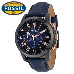 フォッシル メンズ 時計(FS5061)ネイビー×ブラック/ネイビーレザー