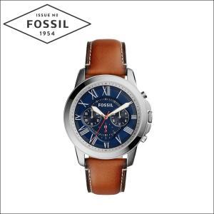 【当店ならお得クーポンあり】フォッシル/FOSSIL メンズ 時計 (FS5210)ブルー×シルバー/ブラウンレザー/GRANT グラント|ryus-select