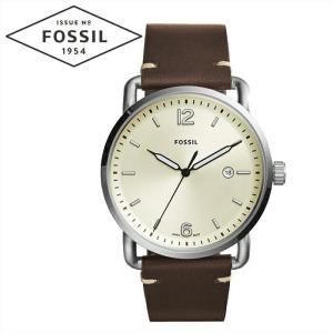 フォッシル FOSSIL FS5275時計 腕時計 メンズクリーム ダークブラウン レザー COMMUTER|ryus-select