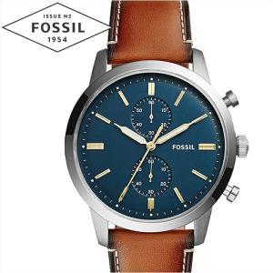 【商品入れ替えクリアランス】フォッシル FOSSIL タウンズマン FS5279 時計 腕時計  メンズ ネイビー ブラウン レザー 青い腕時計|ryus-select