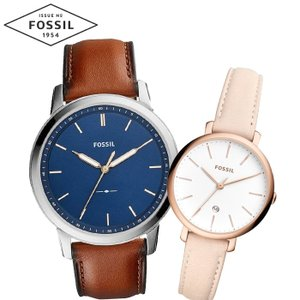 【当店ならお得クーポンあり】ペアウォッチ フォッシル FOSSILメンズ/FS5304 レディース/ES4369時計 腕時計 レザー(k-15) ryus-select