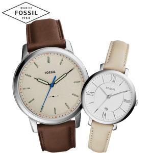 【当店ならお得クーポンあり】ペアウォッチ フォッシル FOSSILメンズ/FS5306 レディース/ES3793時計 腕時計 レザー(k-15) ryus-select