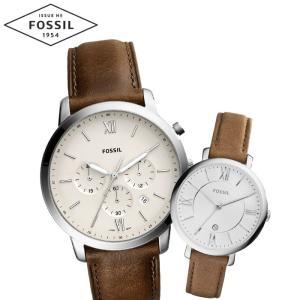 【当店ならお得クーポンあり】ペアウォッチ フォッシル FOSSILメンズ/FS5380 レディース/ES3708時計 腕時計 レザー(k-15) ryus-select