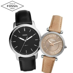 【当店ならお得クーポンあり】ペアウォッチ フォッシル FOSSILメンズ/FS5398 レディース/ES4343時計 腕時計 ブラック ブラウン レザー(k-15)|ryus-select