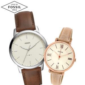 【当店ならお得クーポンあり】ペアウォッチ フォッシル FOSSILメンズ/FS5439 レディース/ES3487時計 腕時計 レザー(k-15)|ryus-select