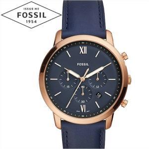 【商品入れ替えクリアランス】フォッシル FOSSIL ノイトラクロノ FS5454 時計 腕時計 メンズ ネイビー レザー 青い腕時計|ryus-select