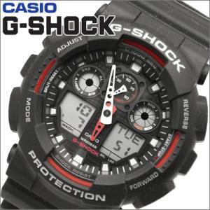 【80】カシオ/CASIO G-SHOCK/Gショック 時計 GA-100-1A4 /アナログ&デジタル コンビ ブラック|ryus-select