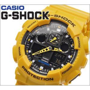 【10】カシオ/CASIO G-SHOCK/Gショック 腕時計 GA-100A-9AER/イエロー アナログ&デジタル コンビ|ryus-select