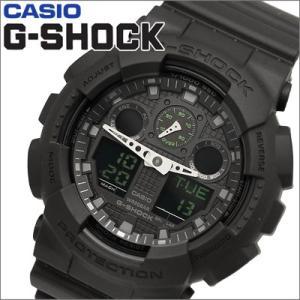 【109】カシオ/CASIO G-SHOCK/Gショック メンズ 時計 GA-100MB-1A /Military black series(ミリタリーブラック・シリーズ)|ryus-select
