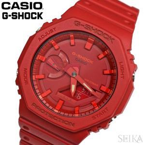 カシオ CASIO (189) GA-2100-4A GA-2100-4AER G-SHOCK 20気圧防水 メンズ 腕時計 時計 アナログ デジタル レッド 父の日 ryus-select