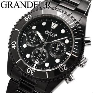 グランドール/GRANDEUR メンズ 時計 OSC042B1/オールブラック/クロノグラフ|ryus-select