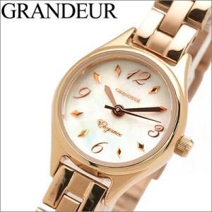 時計 グランドール GRANDEUR レディース ESL024P1 ホワイトシェル×ピンクゴールド|ryus-select