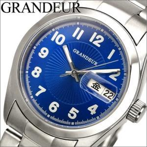 グランドール/GRANDEUR メンズ 時計 GSX052M2/ブルー×シルバー|ryus-select