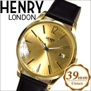 【クリアランス】ヘンリーロンドン HENRY LONDONHL39-S-0006(64) ウェストミンスター時計 腕時計 メンズ レディースゴールド ブラックレザー 39mm|ryus-select