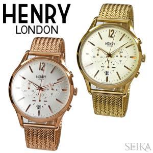 【当店ならお得クーポンあり】ヘンリーロンドン/時計 41mm/メッシュ/ウォッチ/メンズ|ryus-select